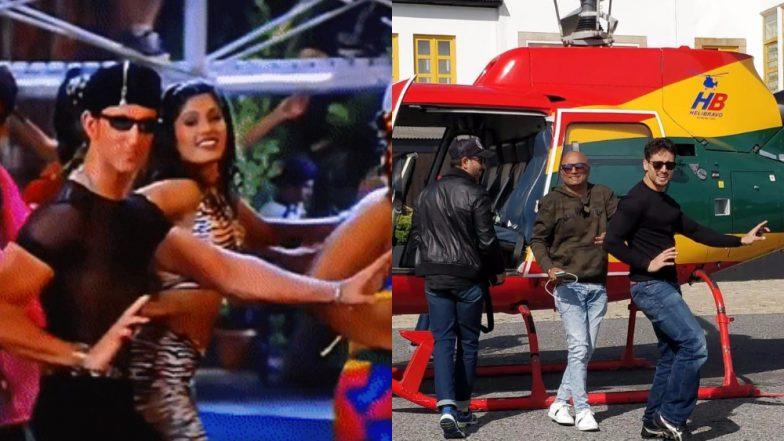 Tiger Shroff Does 'Ek Pal Ka Jeena' Hook Step While Hrithik Roshan Looks On – View Pic