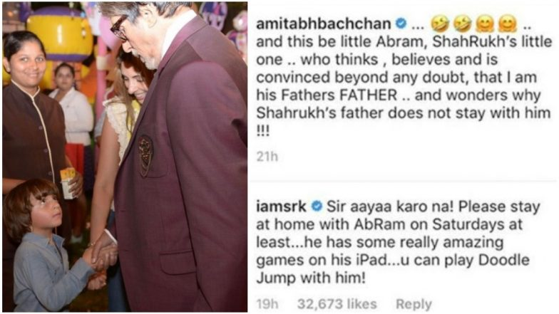 Shah Rukh Khan's Little Munchkin AbRam Khan Thinks Amitabh Bachchan is his Grandfather - View Pic