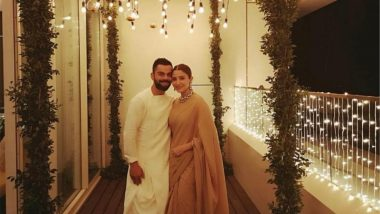 Anushka Sharma and Virat Kohli Celebrate First Diwali After Marriage at Their Brightly Lit House (View Pics)