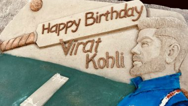 Happy Birthday Virat Kohli: This Sand Art at Ayodhya by Sudarsan Pattnaik Will Touch Every Viratian's Heart (Watch Video)