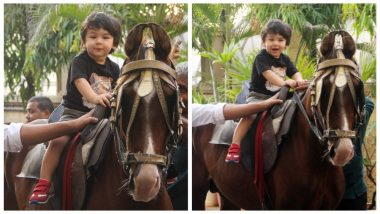 Taimur Ali Khan Has an Adventurous Sunday as He Goes Horse- Riding in the City! - See Pics