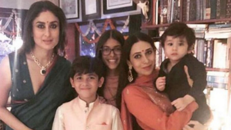 Kareena and Karisma Kapoor's This Pic With Kids Taimur Ali Khan, Samaira and Kian is a Diwali Delight!