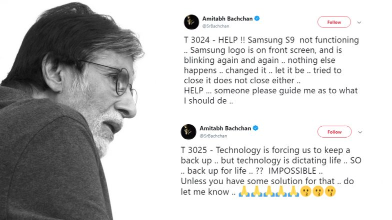 OnePlus Brand Ambassador Amitabh Bachchan's Samsung Galaxy S9 Malfunctions; Seeks Help From Fans on Twitter