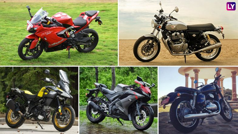 Five Best Motorcycles Launched During 2018 in India; Royal Enfield Interceptor 650, Jawa, TVS Apache RR 310, Yamaha R15 V3 & Suzuki V-Strom 650 XT Tops The List