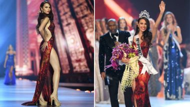 Miss Universe 2018 Winner Catriona Gray From Philippines Wore a 'Mayon' Gown Created by Mak Tumang for the Beauty Pageant at Bangkok, Thailand