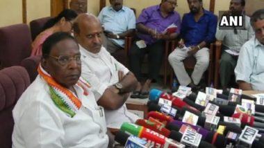 Puducherry CM V Narayanaswamy Accuses NDA Government of Misusing CBI