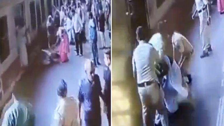 Mumbai Railway Police Saves Two Women Passengers From Being Crushed Under Train; Watch Video