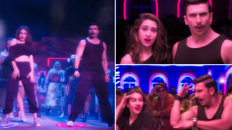 Simmba Song Aankh Marey: Ranveer Singh and Sara Ali Khan Make For a Dynamic Duo in the Remix Version of the 90s Chartbuster - Watch Video