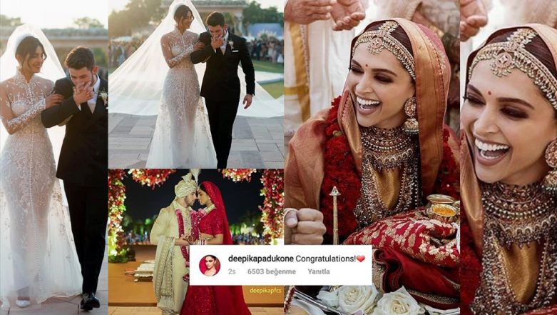 Deepika Padukone's Congratulatory Message for Priyanka Chopra and Nick Jonas Proves Their Catfight is OVER!