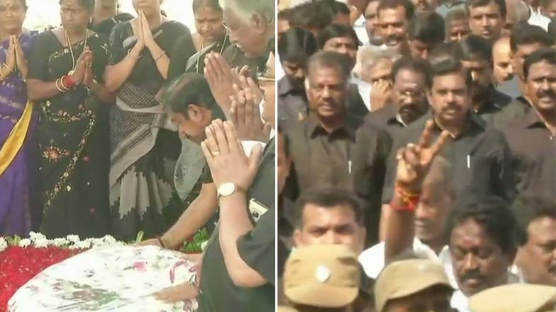 Jayalalithaa Death Anniversary: Tamil Nadu CM, AIADMK Workers Carry Out Peace March; Floral Tributes Paid to Former CM