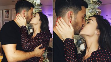 Amy Jackson and Boyfriend George Panayiotou Share a Warm Kiss on Christmas Eve and That's What We Call a Perfect Celebration - View Pic