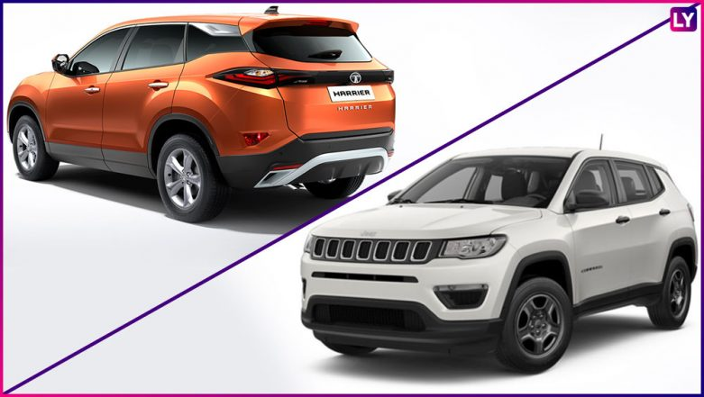Tata Harrier Vs Jeep Compass: Premium SUVs Caught Alongside on Indian Road; View Pic
