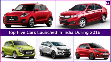 Top 5 Cars Launched in India During Year 2018; Maruti Swift, Mahindra Marazzo, Honda Amaze, Hyundai Santro & Tata Tiago JTP