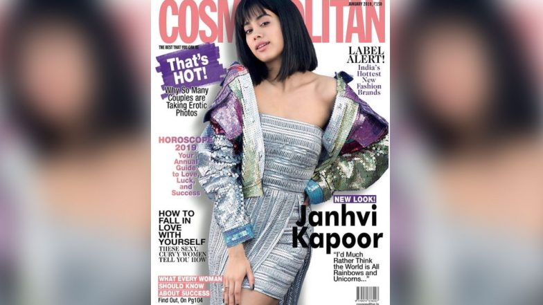New Year, New Me! Janhvi Kapoor Sports a Chic Long Bob with Bangs for Cosmopolitan Magazine's January 2019 Issue, See Picture