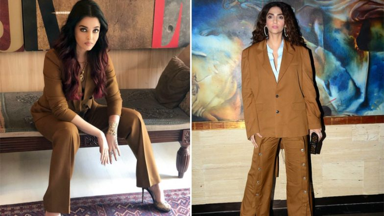 Aishwarya Rai Bachchan in Massimo Dutti or Sonam Kapoor in Y/Project: Who Nailed The Boss Lady Look in the Brown Pantsuit?