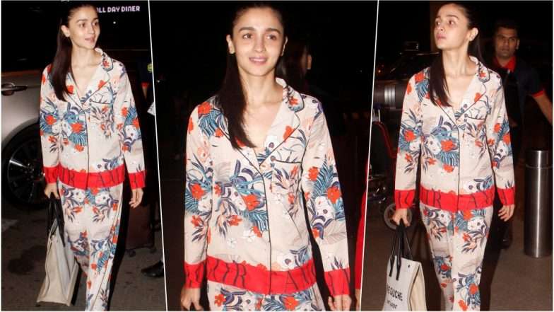 Alia Bhatt Airport Look: Brahmastra Actress Makes a Tacky Appearance in Gucci Flora Print Set, See Pic