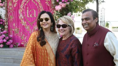 Isha Ambani - Anand Piramal Wedding Guests: Former US First Lady Hillary Clinton, Mega Stars, Leading Politicians Arrive in Udaipur