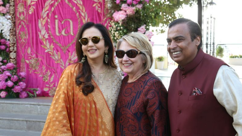 Isha Ambani - Anand Piramal Wedding Guests: Former US First Lady Hillary Clinton, Mega Stars, Leading Politicians Arrive in Udaipur