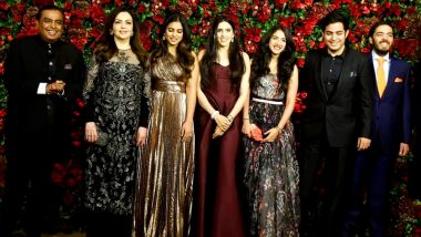 Isha Ambani and Anand Piramal to Get Married Today in Mumbai; Here's a Look at The Family Tree of India's Richest Family and Net Worth