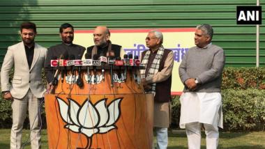 Lok Sabha Elections 2019: Amit Shah Announces Bihar Seat-Sharing Deal; BJP, JD(U) to Contest 17 Seats Each, 6 Seats for LJP