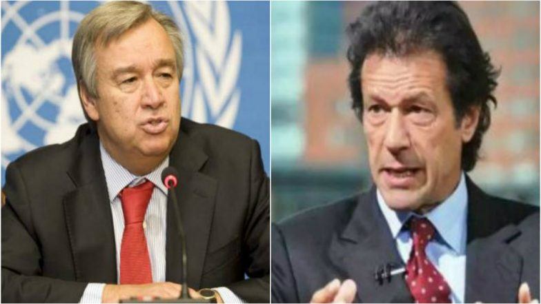 Pakistan PM Imran Khan Raised Kashmir Issue with UN Chief Antonio Guterres: UN Spokesman
