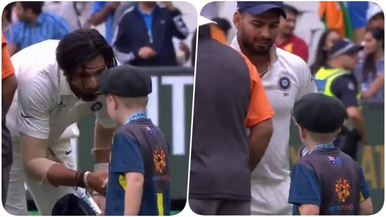 Indian Players Greet 7-Year-Old Archie Schille After Defeating Australia at Boxing Day Test (Watch Video)