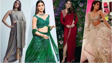 Best-Dressed Celebs at Dinesh Vijan-Pramita Tanwar Reception: Janhvi Kapoor, Kriti Sanon & Sara Ali Khan Give Wedding Fashion Goals (See Pics)