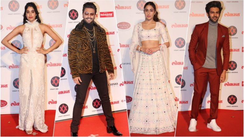 Lokmat Most Stylish Awards 2018: Ranveer Singh, Janhvi Kapoor, Kartik Aaryan & Sara Ali Khan Among the Best-Dressed Celebs at the Award Event (View Pics)