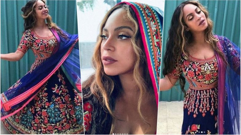 Beyoncé Twirling in Indian Anarkali by Abu Jani Sandeep Khosla is a Sight to Behold, See Pics