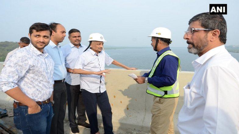 Ailing Goa CM Manohar Parrikar Makes Rare Public Appearance, Inspects 2 Under-Construction Bridges