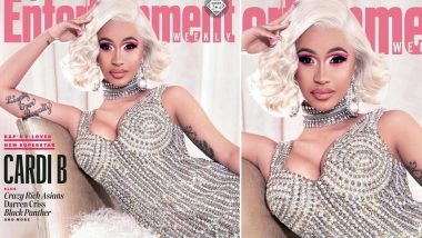 Cardi B Bedazzles in Abu Jani Sandeep Khosla's Design on the Cover of Entertainment Weekly's December 2018 Issue – See Pic