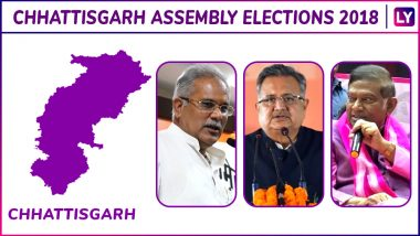 Dharamjaigarh, Rampur, Korba, Katghora, Pali Tanakhar, Marwahi Elections Results Live News Updates: Who Is Winning MLA Seat in Chhattisgarh Assembly Elections 2018?