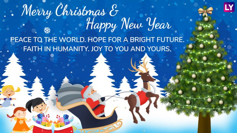 Merry Christmas And Happy New Year 2019 Wishes Whatsapp Stickers