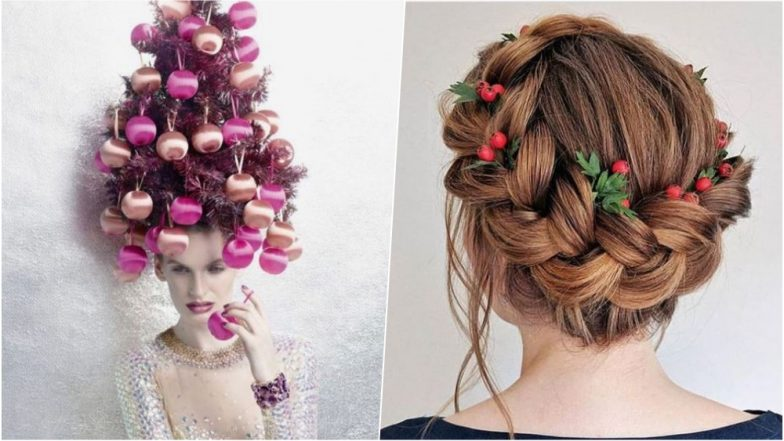 Christmas 2018 Hair Styles: From Reindeer Bun to Christmas Wreath Hairdo, Try These Cool Ideas This Season