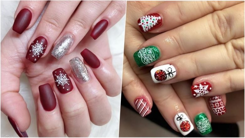 christmas 2018 nail art designs from christmas tree to snowflakes cute and chic ideas to rock this festive season see pics video tutorials latestly christmas 2018 nail art designs from