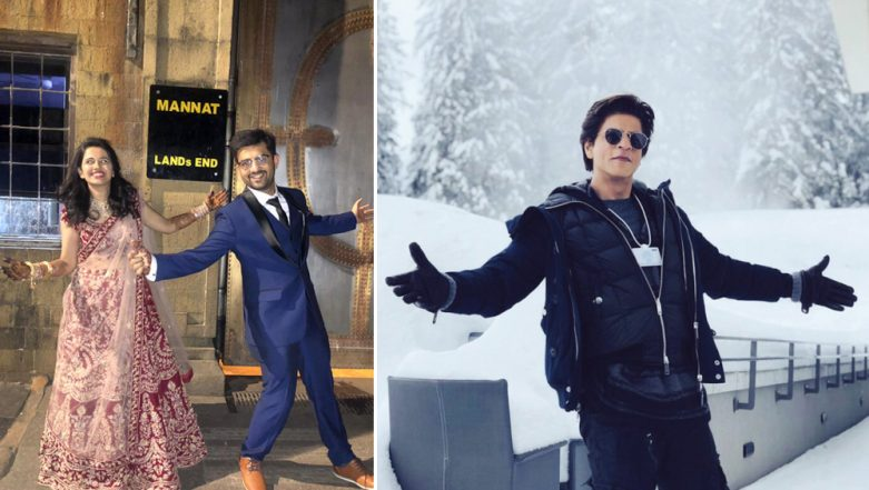 Just Married Couple Poses Outside Shah Rukh Khan's Mannat Instead of Visiting Temple, Check How The Zero Actor Reacted
