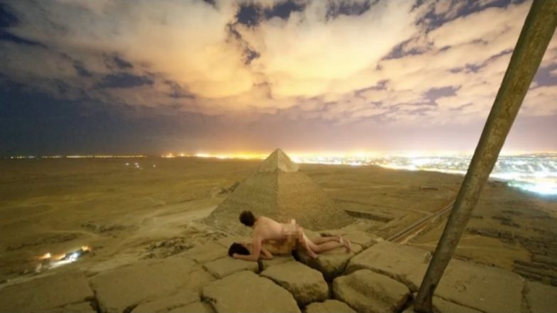 Danish Photographer Has Sex on Top of Great Pyramid of Egypt, Viral Pic Sparks Outrage (Watch Video)