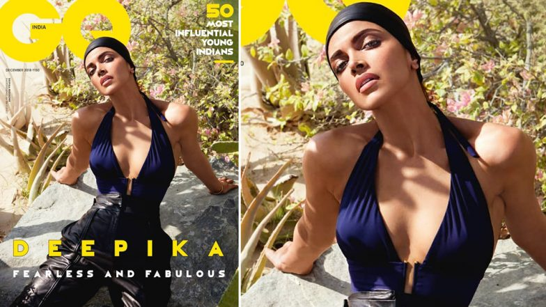 Deepika Padukone Looks Fearless in Cleavage-Revealing Bodysuit on Magazine Cover of GQ India's December 2018 Issue, See Pic