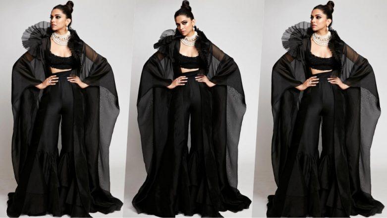 Deepika Padukone Dresses Up as a Human Bat at Star Screen Awards 2018! See Pics of Actress in Custom Anamika Khanna Outfit
