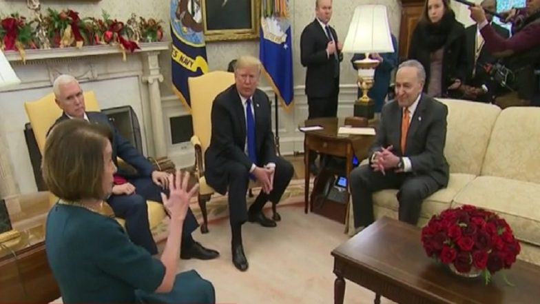 Donald Trump Argues with Top Democrats on Live TV, Threatens to Shut Down Government