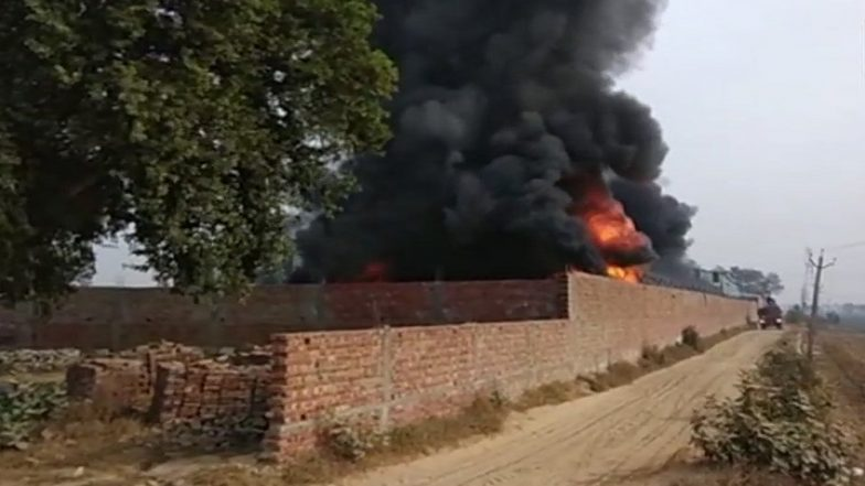 Punjab: Fire Breaks Out at Foam Factory in Barnala; Six Fire Tenders Rush to Spot