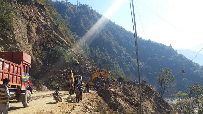 Jammu-Srinagar Highway Closed Due to Landslide in Ramban