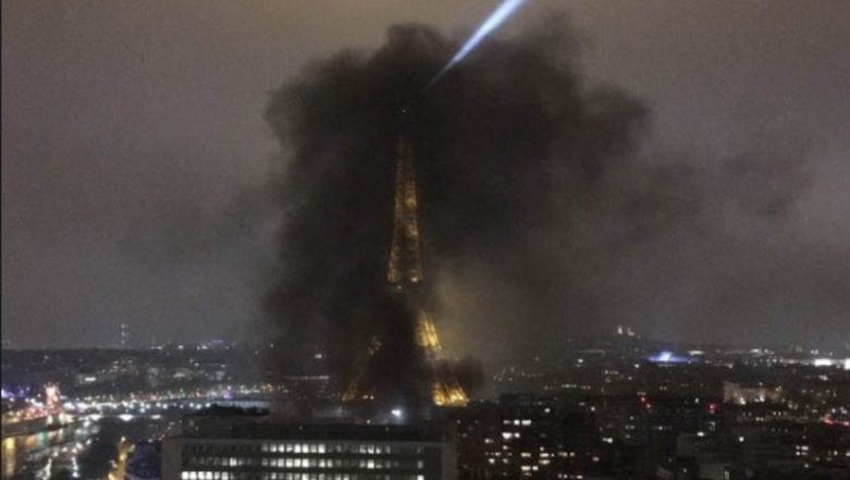 Yellow Vest Protesters Cover Eiffel Tower in Thick Black Smoke, Seek French President Emmanuel Macron to Revoke Fuel Taxes