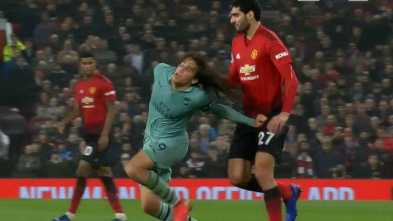 Marouane Fellaini Pulls Matteo Guendouzi's Hair During Manchester United vs Arsenal EPL 2018-19 Match, Watch Video