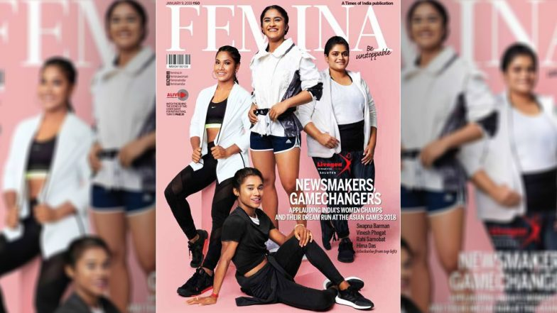 Femina Magazine Features Swapna Barman, Vinesh Phogat, Rahi Sarnobat, and Hima Das on Its Cover: See Pic of the Asian Games 2018 Medal Winners