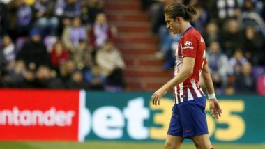 Atletico Madrid's Filipe Luis Suffers Grade 1 Muscle Injury
