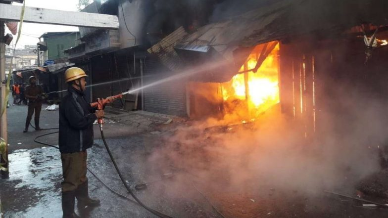 West Bengal: Fire Breaks Out at Garment Shops in Siliguri, Fire Tenders Reach Spot