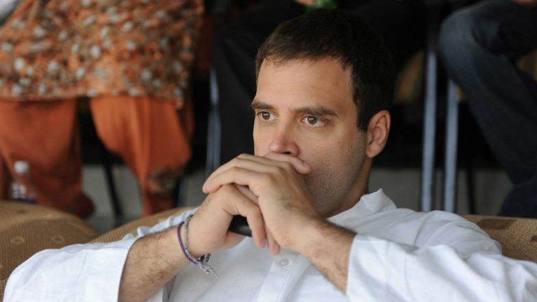 Gujarat: 68-Year-Old Woman Kisses Rahul Gandhi on Valentine's Day, Watch Video