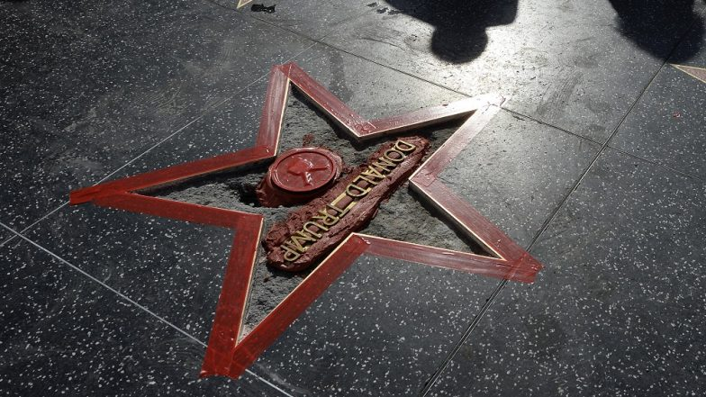 Man Arrested by LAPD for Painting Swastikas on Donald Trump's Hollywood Walk of Fame Star
