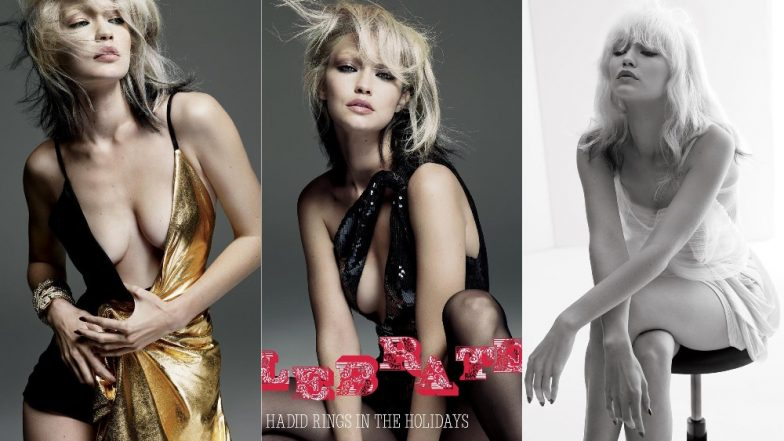 Gigi Hadid Glams Up In Platinum Blonde Hair For A Retro Photoshoot And It's Gorgeous! View Pics
